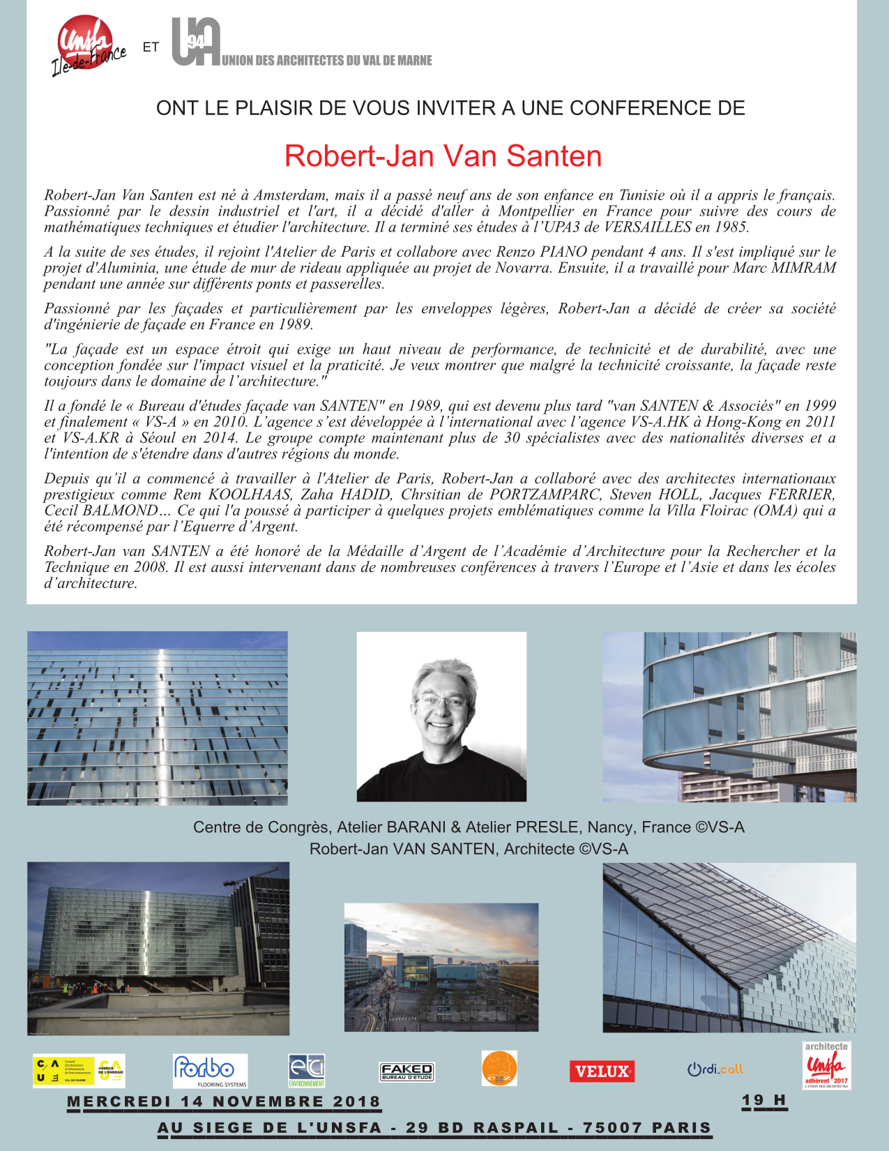 conference robert jan van santen a paris – union des architectes du